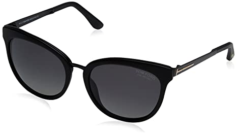 dc9624603f6 Image Unavailable. Image not available for. Colour  Tom Ford Women s  Polarized Emma FT0461-02D-56 Matte Black Butterfly Sunglasses