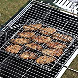Barbecue Grilling Basket Grill BBQ Net Wooden Handle Steak Meat Fish Vegetable