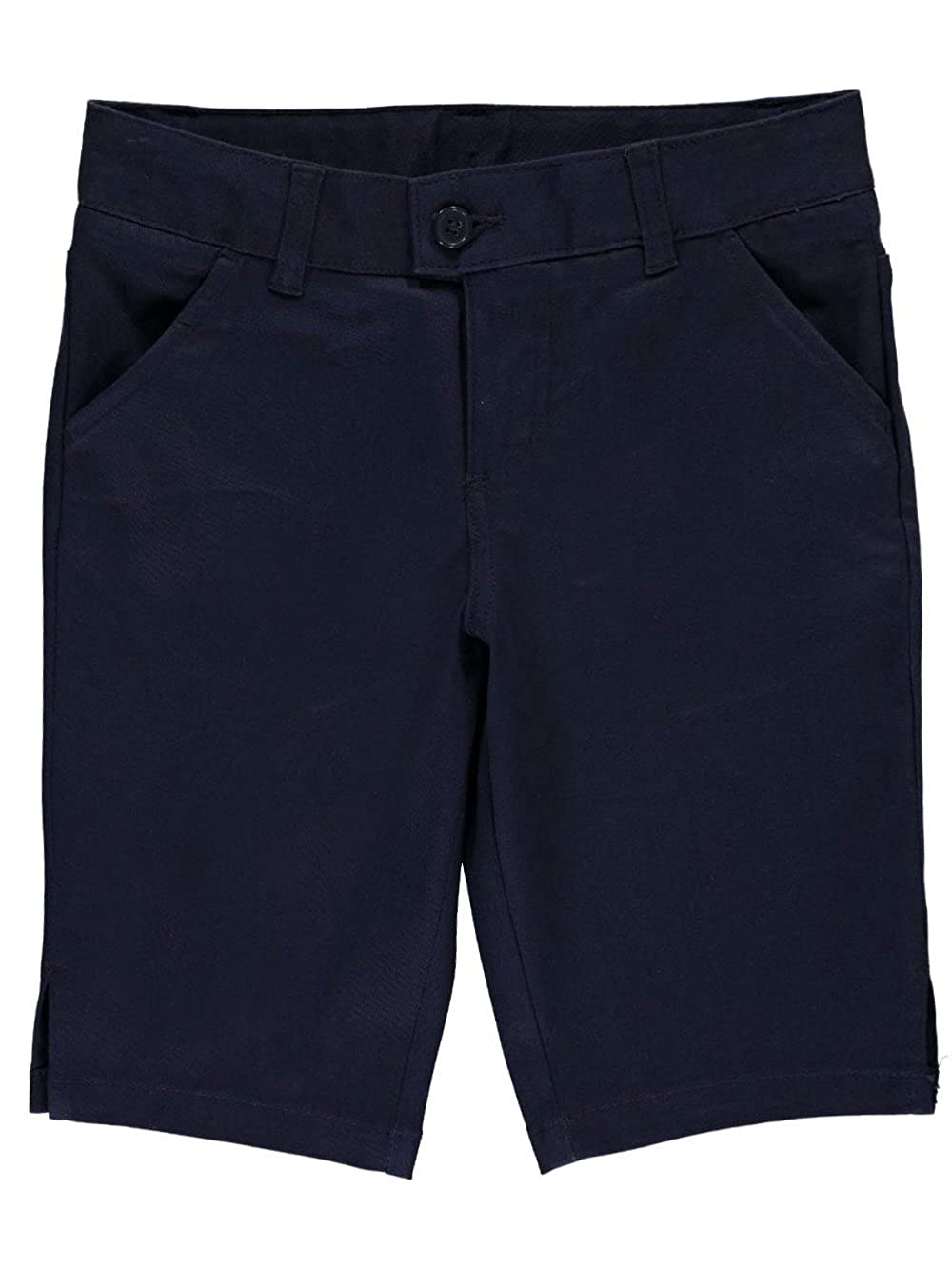 French Toast Big Girls' Flat Front Twill Bermuda Shorts - Navy, 18