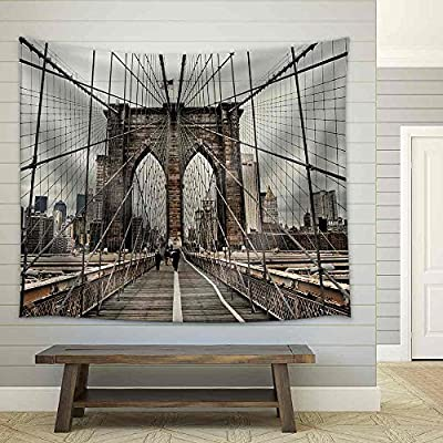 Incredible Creative Design, Top Quality Design, Brooklyn Bridge and Cable Pattern Fabric Wall