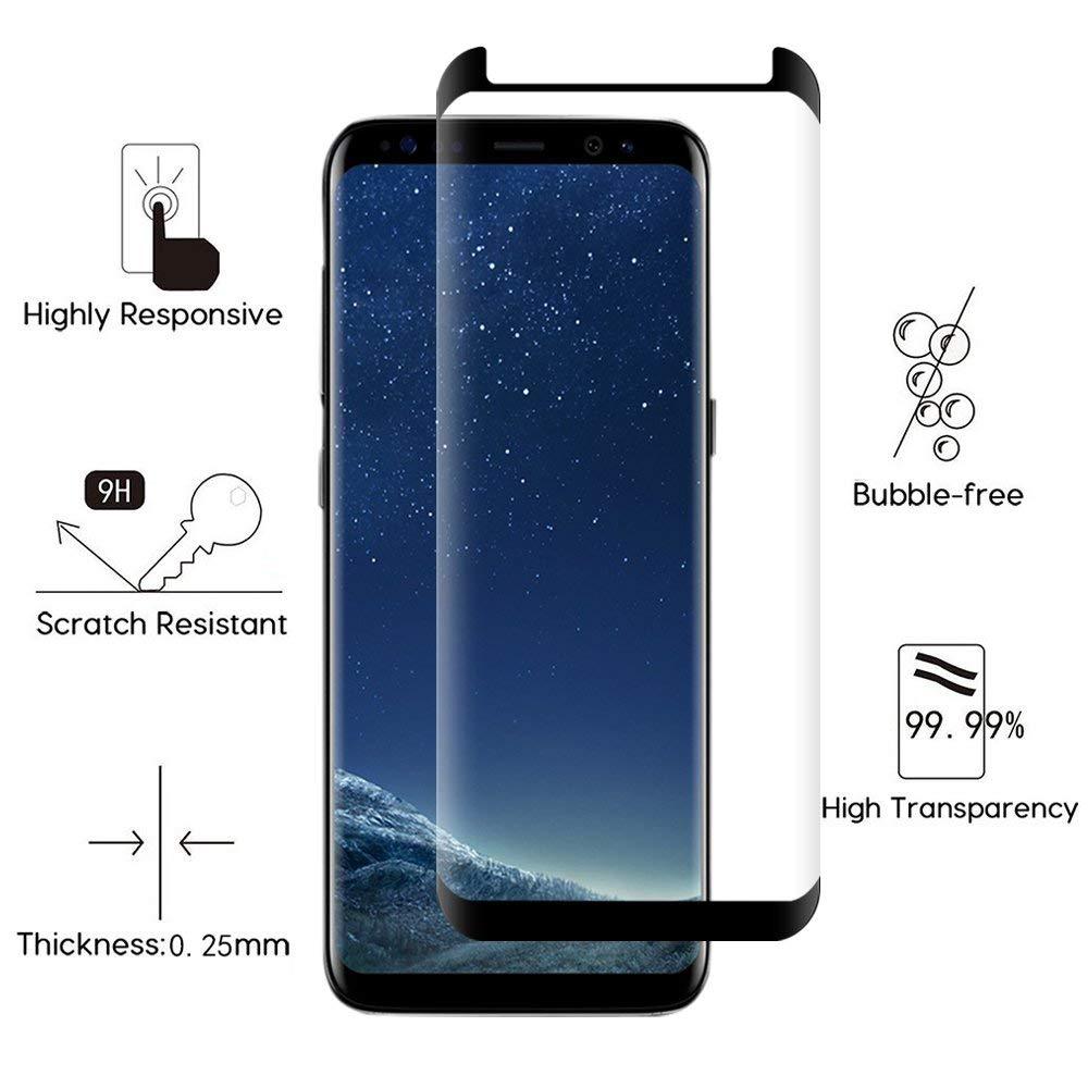 2 unidades] Galaxy S8 Protector de pantalla, solocil 3d-curved ...