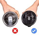 Tumbler Lid,100% Spill Proof 20 Oz Lid with