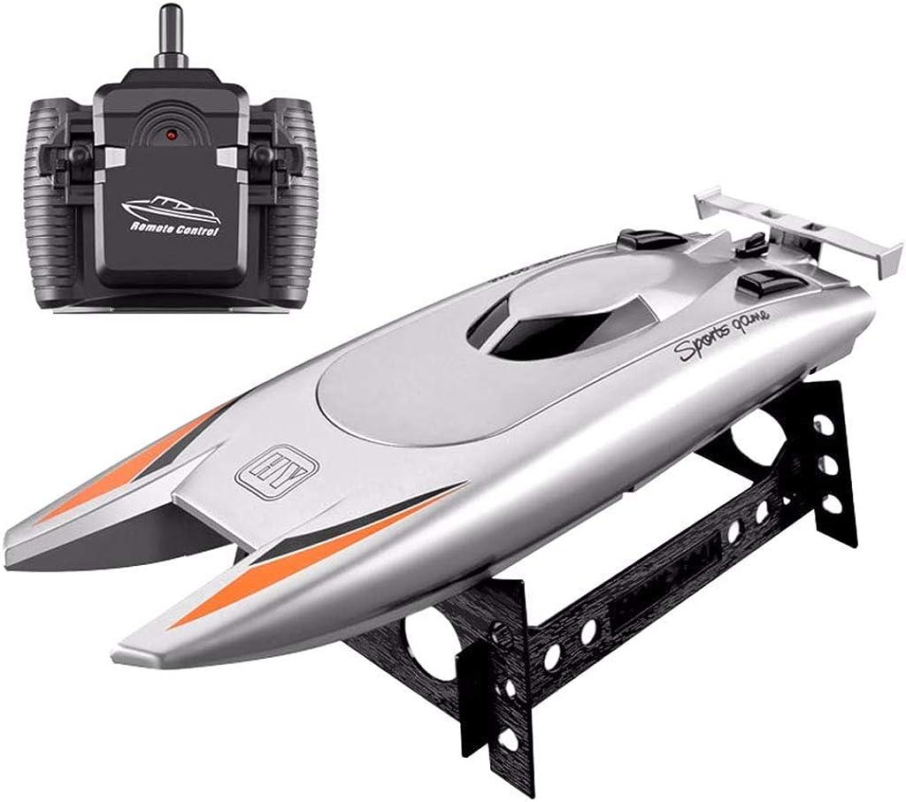Barcos RC para niños Adultos 25KM / H Barco de Carreras de Alta Velocidad 2 Canales Control Remoto