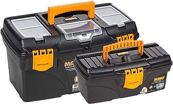Juego de cajas de herramientas y organizadores de 18 + 13 pulgadas – herramientas, clavos y tornillos contenedores H 24 L 42 D 22: Amazon.es: Bricolaje y herramientas