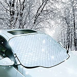 Car Windshield Snow Cover, YANX Car Snow Cover Frost Windshield Cover Magnetic Edges Snow, Ice, Frost Guard No More Scraping (SC01)