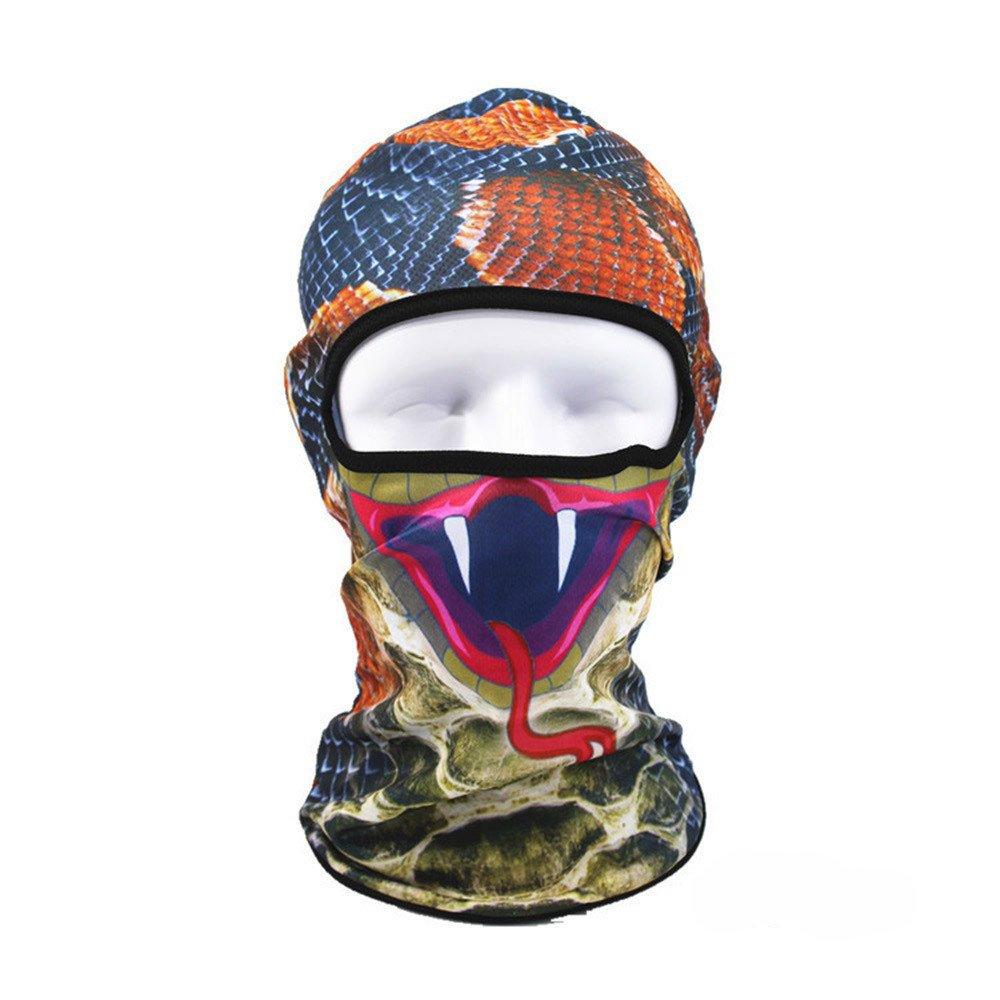 Motorcycle Balaclava,Windpoof Sun Protecting Cyling Ski Mask Funny 4D Animal Wind Stopper Helmet Hood Zulmaliu (A,1PCS)