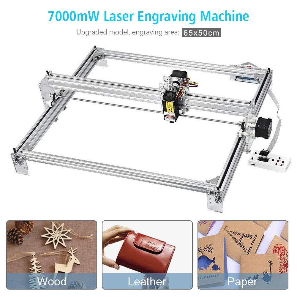 65*50CM//15000MW TOPQSC 65X50CM Kits de gravure laser CNC bricolage 12V USB Machine de gravure laser de bureau