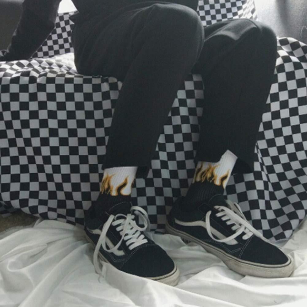 YOUNICER Moda Unisex Casual Hip Hop Calcetines Calcetines de Skate Patr/ón de Llama Algod/ón