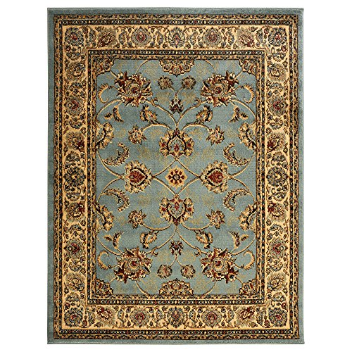 Ottomanson Royal Collection New Traditional Oriental Area Rug, 7'10''W X 9'10''L, Seafoam by Ottomanson