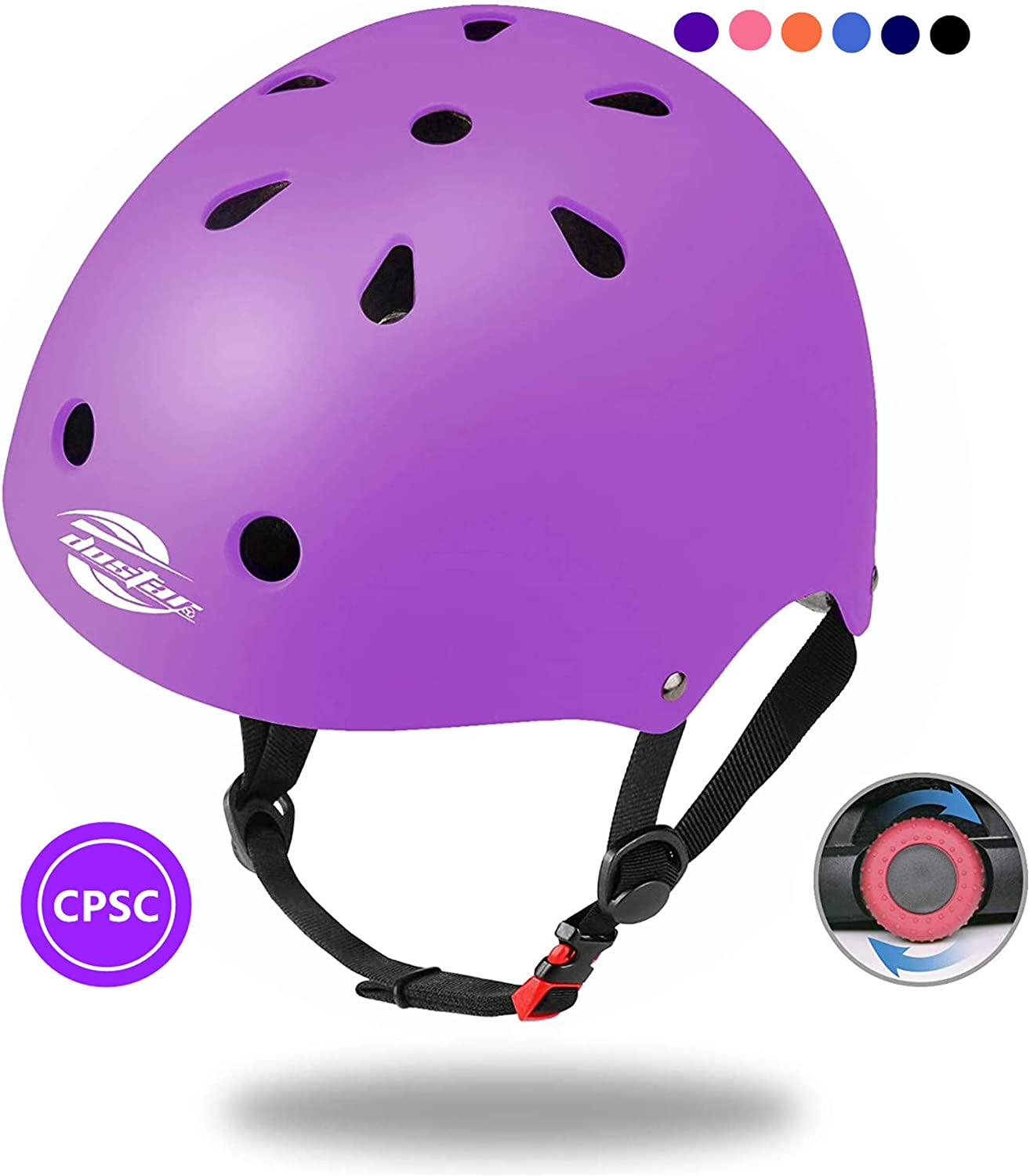 Dostar Kids Bike Helmet Toddler Helmet Adjustable Kids Helmet Ages 3-8 Years Old Boys Girls Multi-Sports Safety Cycling Skating Skateboarding Scooter Helmet - CPSC Certified for Safety