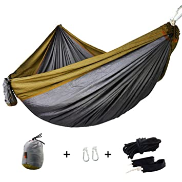 alafen portable nylon parachute outdoor camping yard travel 660lbs double 2 person hammock camel amazon    alafen portable nylon parachute outdoor camping yard      rh   amazon