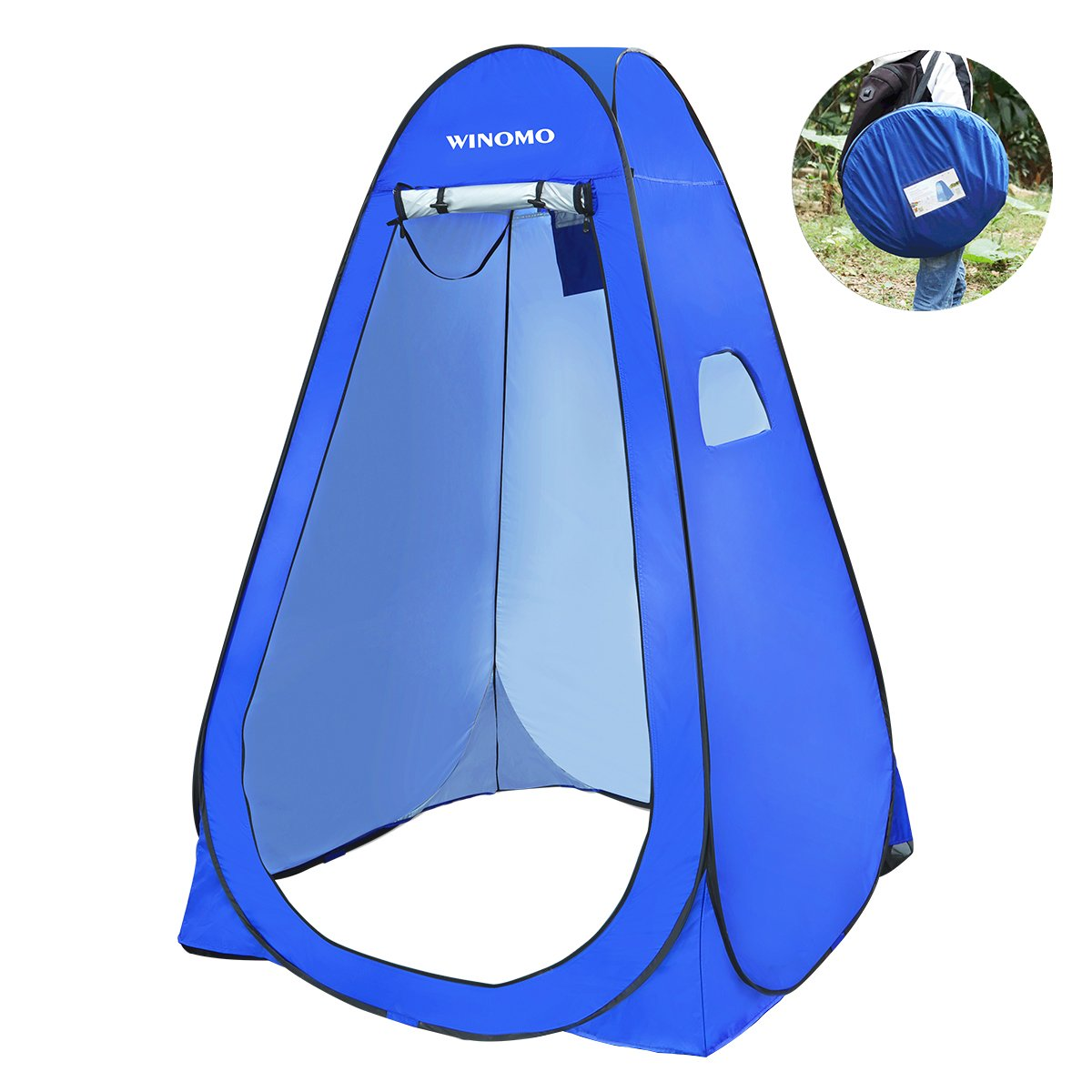 WINOMO Pop Up Shower Tent Portable Changing Room Privacy Shelter with Carry Bag for Camping Hiking Beach Toilet by WINOMO