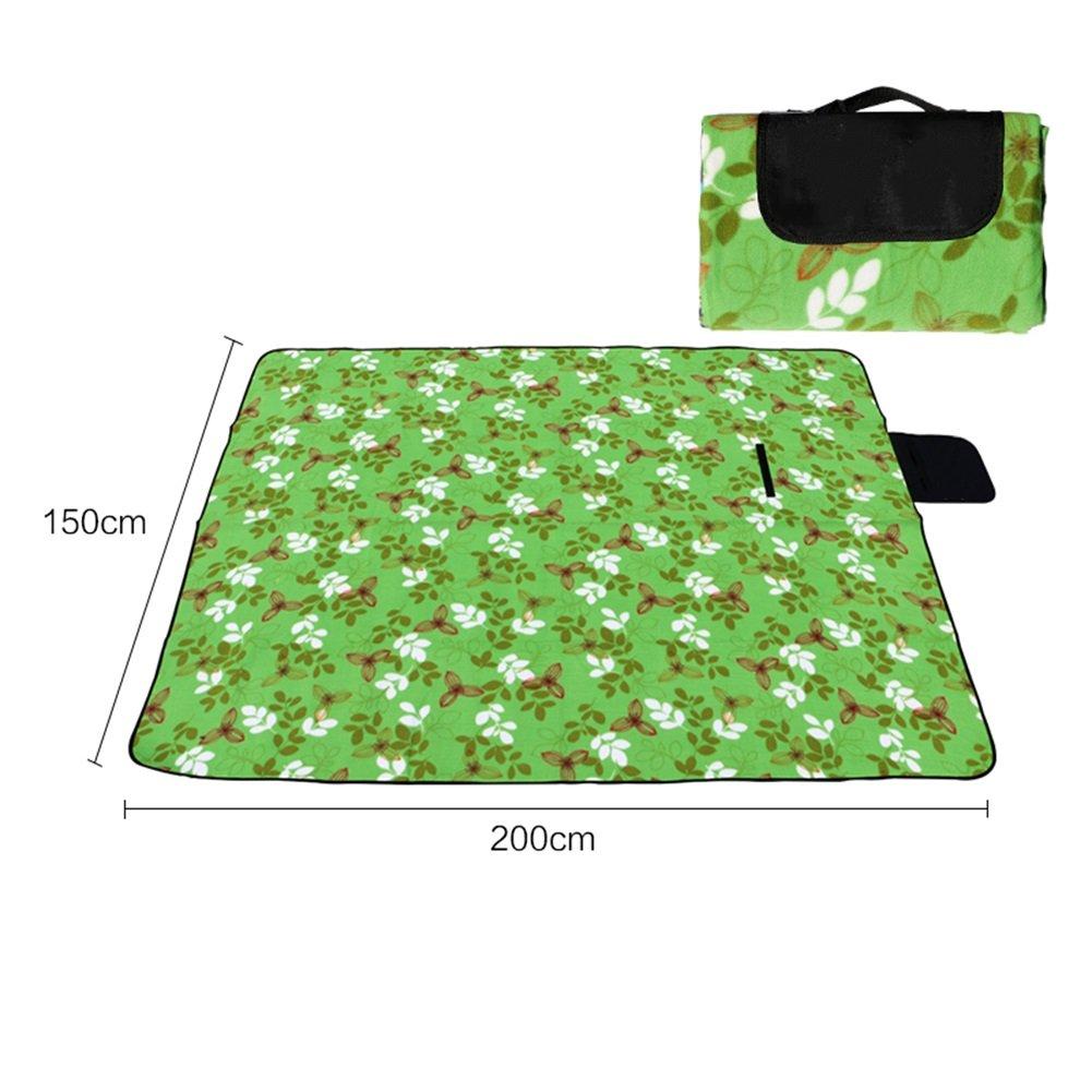 防湿パッドアウトドアテント多くの人キャンプマット150 x 200 cm増粘防水ピクニックマット B07DK3P97S  スタイル3