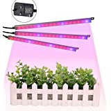 Plant Grow Light,GLIME LED Plant Light Strip 54LEDs 3in1 Button Control Red Blue Grow Light for Indoor Greenhouse Hydroponics Plants Flower Vegetable Growing DC 12V