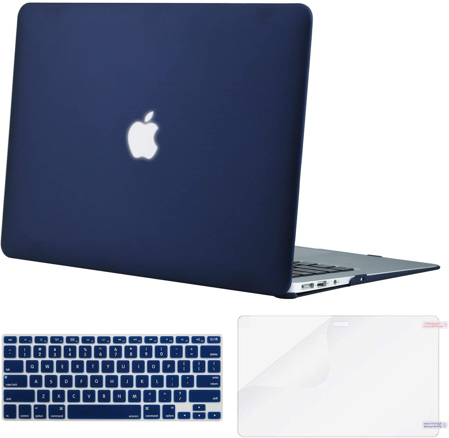 MacBook Air 13 Inch Case 2019 2018 Release A1932, Lacdo Laptop Hard Case Shell Cover with Screen Protector and Keyboard Skin for Apple MacBook Air 13