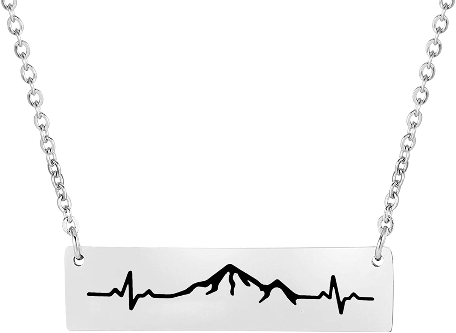 Mountain Necklace Gifts for Women The Mountains are Calling Necklace Birthday Gifts Hiking Gift for Her And Outdoor Lovers