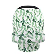 Breastfeeding Nursing Cover, Baby Carseat Canopy, Infant Stroller Covers, Multifunction Sun Shade Canopy (Cactus)
