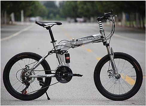 20 * 15 Pulgadas Bicicleta de montaña Plegable Doble Amortiguador ...