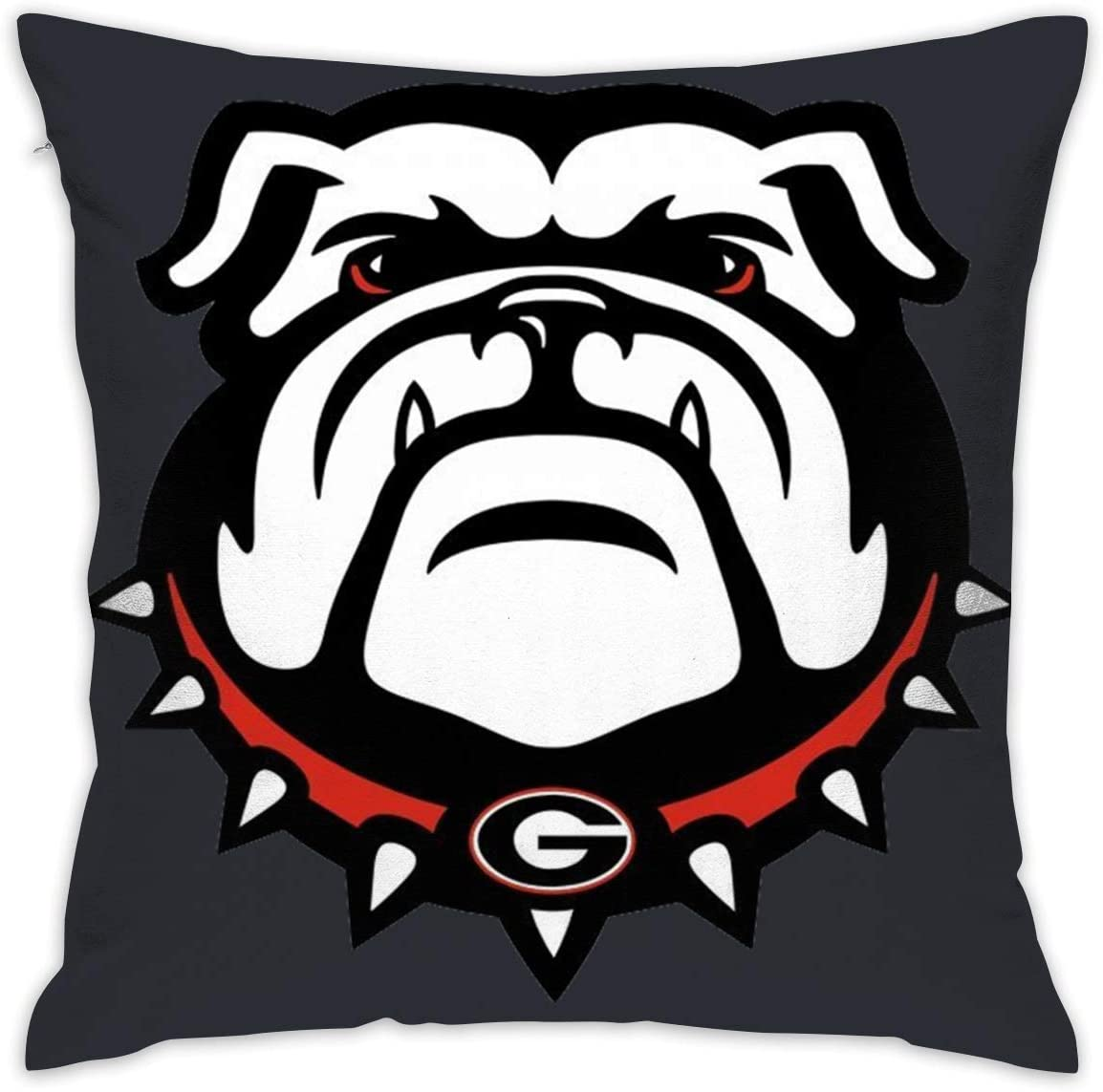 Georgia Bulldogs White Unisex Pillow Case Soft for Sofa Bed Car Throw Pillow Covers 18x18 Inch