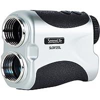SereneLife Premium Pendiente Golf telémetro láser con pinsensor–Digital medidor de Distancia, diseño Compacto de Golf con Funda