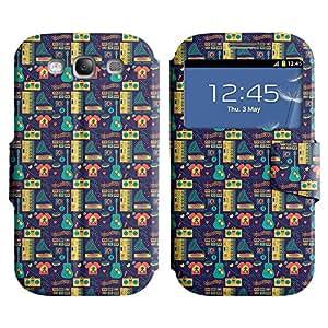 LEOCASE la música es la vida Funda Carcasa Cuero Tapa Case Para Samsung Galaxy S3 I9300 No.1005492