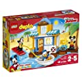 LEGO DUPLO Disney Juinior Mickey & Friends Beach House, Preschool, Pre-Kindergarten Large Building Block Toys for Toddlers