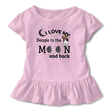 Love Shirt Printed Little Baby Girls Flounced T Shirts Shirt Dress for 2-6T Baby Girls