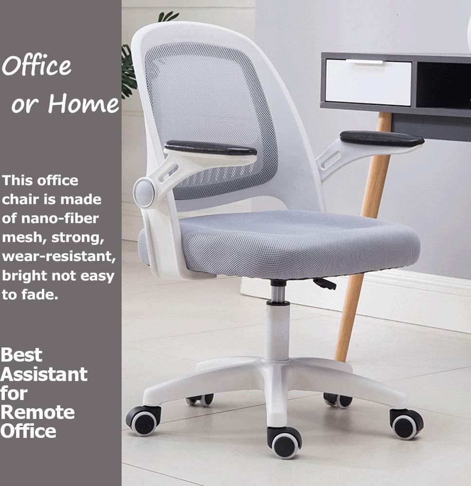 QWET Kontorsstol, verkställande dator kontorsstol, ergonomisk justerbar och vridbar tyg nätstol med bekvämt ryggstöd Orange gRÖN