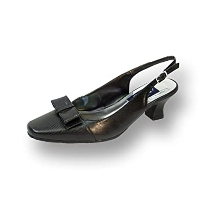 c86fa0c9a51 Peerage FIC Adalyn Women Wide Width Leather Slingback Pump Black 5