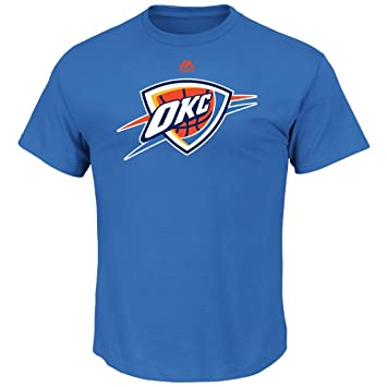 "Oklahoma City Thunder NBA Majestic ""Supremo logotipo"" camiseta de manga ..."