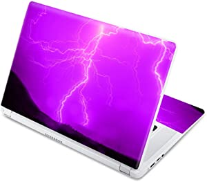 """MightySkins Skin Compatible with Acer Chromebook 15 15.6"""" (2017) - Purple Lightning 
