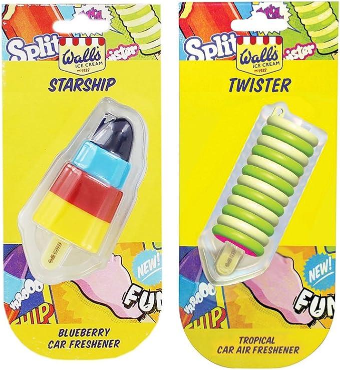 Amazon.es: 2 Ambientadores para coche con forma de helado Twister ...