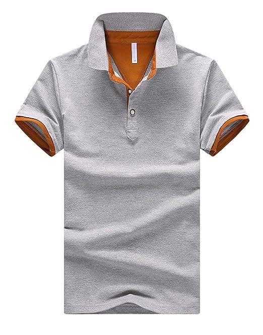 シンプル メンズ 半袖 男女兼用 Tシャツ 刺繍 ニット 夏 KMAZN 秋 春 ポロシャツ ワッペン 薄手 ゴルフウェア
