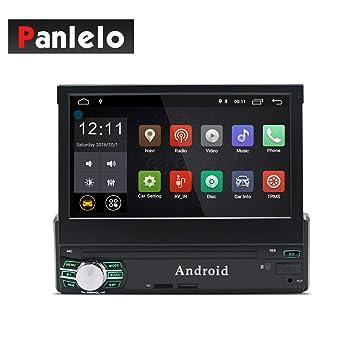 Panlelo T1 Plus Android 8.0 Estéreo para automóvil Navegación GPS 2GB RAM 1 DIN Auto Radio (Am/FM/RDS) HD 1024 600 Pantalla táctil capacitiva Llamada ...