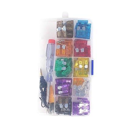 amazon com 100pcs set car auto automotive fuse plugs blade fuse box Spring Box Clip Art