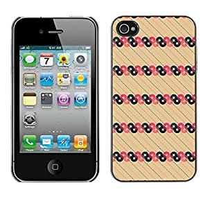 PatternViking PC Polycarbonate Aluminium Back Case Cover Apple iPhone 4 / 4S ( cool circles )