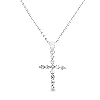 39aebdfd7f8f5 Amazon.com: Devin Rose Cross Pendant Necklace for Women Made with ...