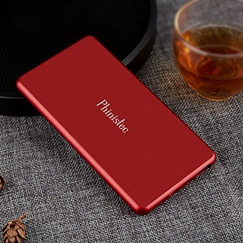 Phinistec vitality Bank 5000mAh mobile or portable Charger along with two suggestions Lightning Micro USB suggestions Shake Switch extra slim Thin pattern Battery Pack Extended Backup for iphone ipad Samsung and far more External Battery Packs
