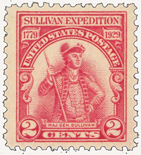 1929 2 Cent Sullivan's Expedition Mint Never Been Hinged Stamp Scott 657 By ()