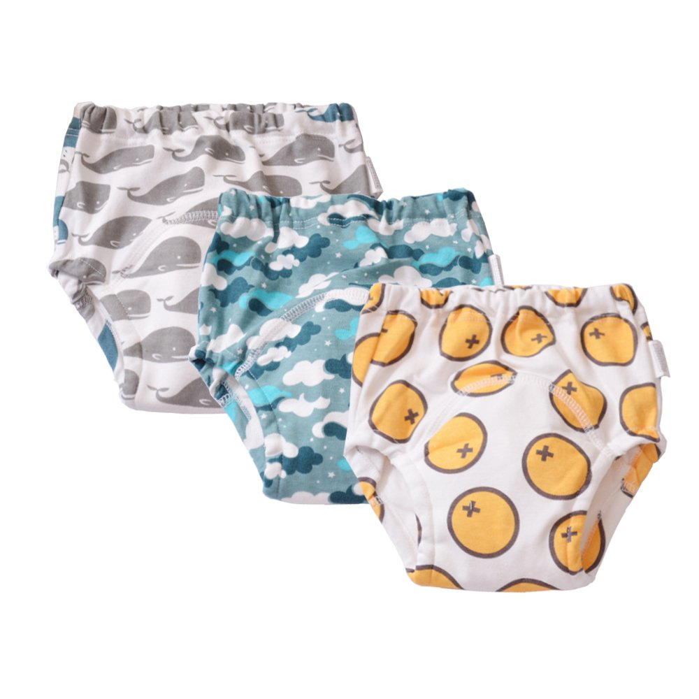 Babyfriend Baby Infant Toddler 3 Pack Assortment 100% Cotton Training Pants, Cloth Underwear Gonghao Textile Co. Ltd SDTP3-B001