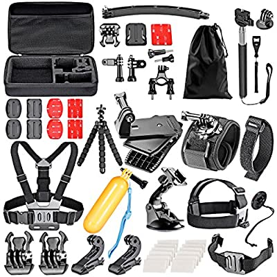 Neewer 50-In-1 Action Camera Accessory Kit for GoPro Hero 4/5 Session, Hero 1/2/3/3+/4/5, SJ4000/5000, Xiaomi Yi, Nikon and Sony Sports DV in Swimming Rowing Climbing Bike Riding Camping and More from Neewer