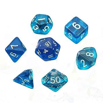 amazon com lays 7pcs polyhedral dice d4 d6 d8 d10 d12 d20 game dice