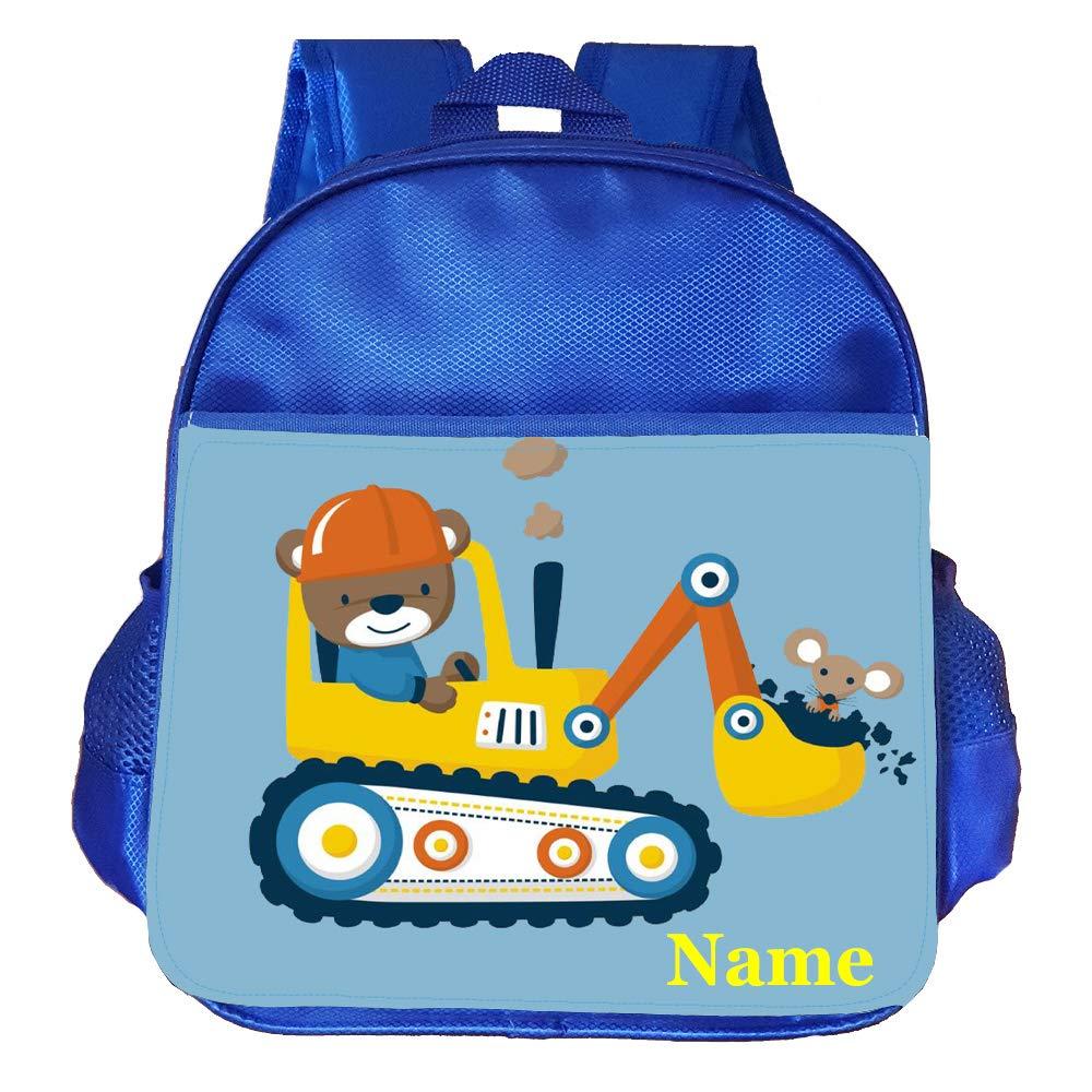 Digger Truck Personalised Customised Kids Toddlers Nursery School Bag Backpack
