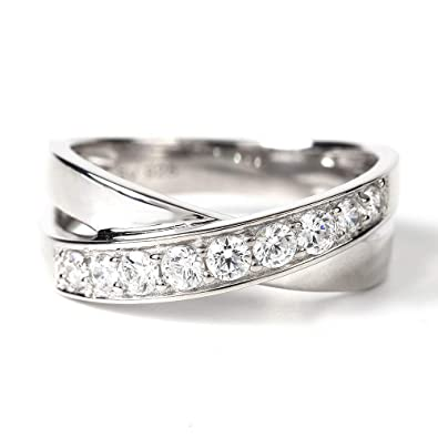 Aspiring Modern 2000 Style Single Cubic Zirconia Stone And Cluster Silver 925 Ring Other Fine Rings Fine Rings