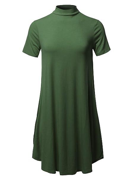 9fdbc99ac97 Awesome21 Women's Solid Mock Neck Short Sleeve & Sleeveless Tunic ...