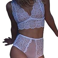 Youngii Lingerie Sexy Femme 2 pièces Dentelle sous-vêtements Mode Chic Tentation Vêtements de Nuit