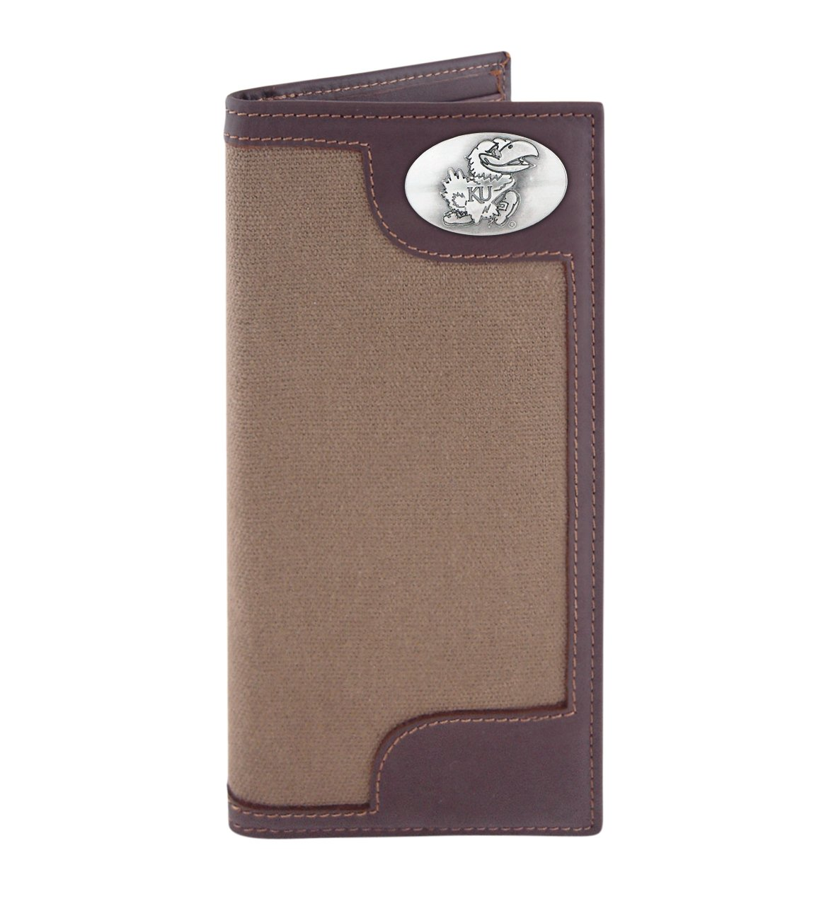 ZEP-PRO NCAA Canvas Leather Concho Secretary Wallet Olive