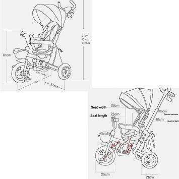 TRICYCLE Triciclo para niños 4 en 1 bebé Trike Triciclo Plegable ...