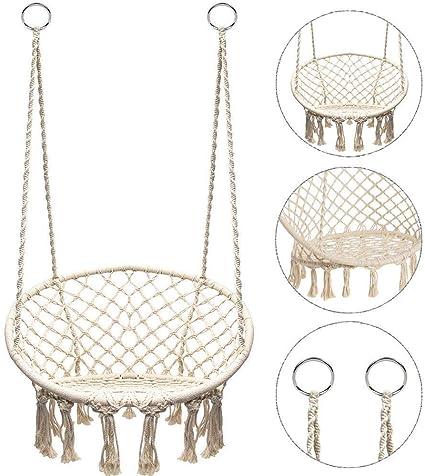Sedia Ad Amaca Poltrona Da Appendere Giardino Altalena Sedie Hammock Chair letto