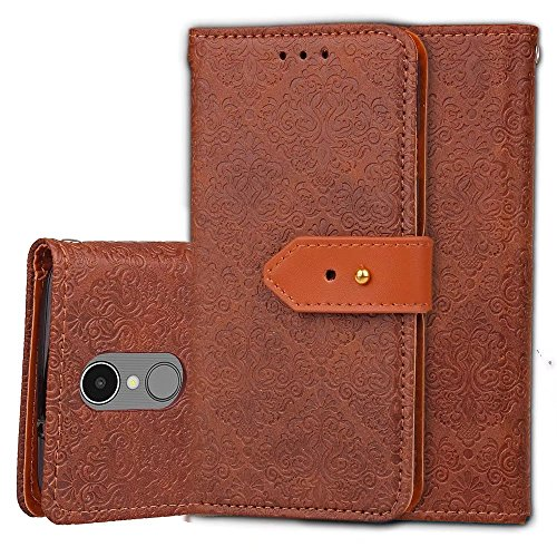 LG Aristo Case,LG Phoenix 3 Case,LG K8 2017 Case,LG Fortune Case,LG Risio Case,LG Rebel 2 LTE Case,GX-LV PU Leather Wallet Flip Case Cover with Card Slots and Stand - Location Package Exact Of Track